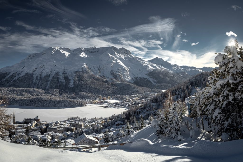 The town of St Moritz is home to around 5000 people and located around 1,800 metres (5,910 ft) above sea level