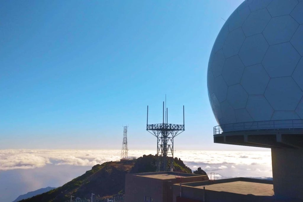 A radar station can be found at the summit of Pico do Arieiro, high above the clouds